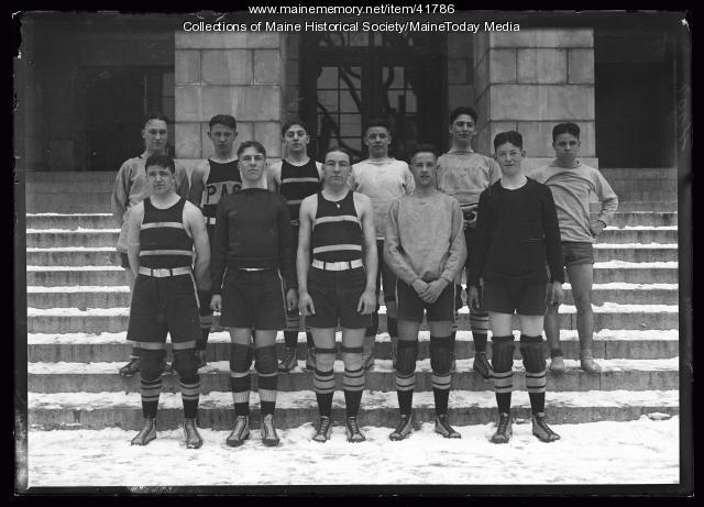 Portland High School boys basketball team, Portland, 1922