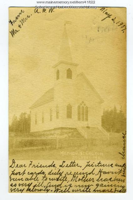 Methodist Church, South Lubec, 1907