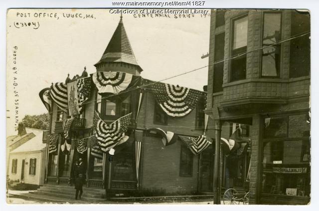 Lubec Post Office, Centennial celebration, 1911