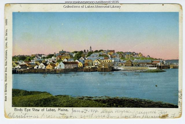 View of Lubec from Campobello, 1903