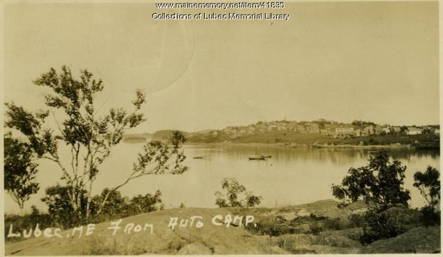 View of Lubec from North Lubec, 1928