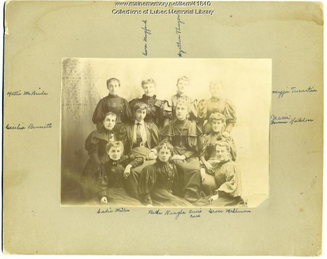 The girls, Lubec, ca. 1895