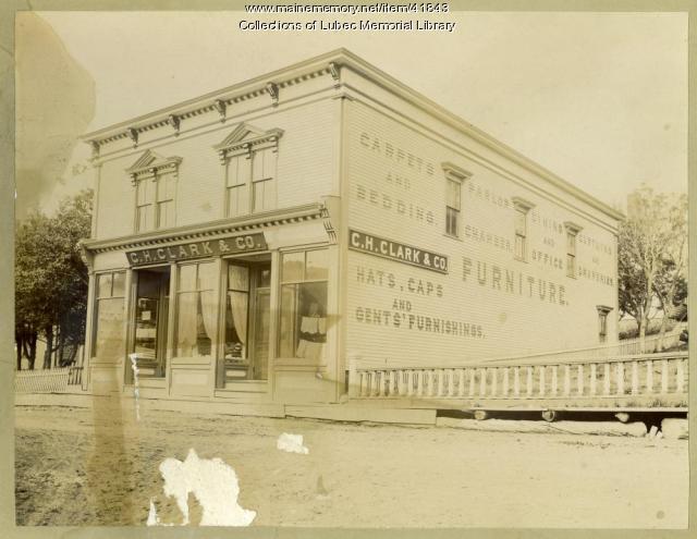 C.H. Clark & Co. store, Lubec, ca. 1900