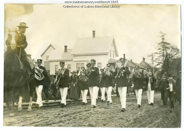 Parade on Washington Street, Lubec, ca. 1900