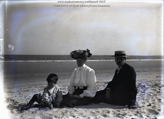 Moody Family on Beach, Camp Ellis, ca. 1906