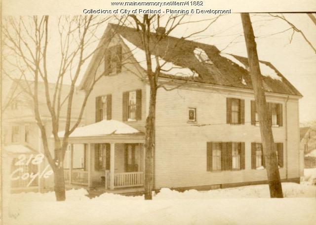 218 Coyle Street, Portland, 1924