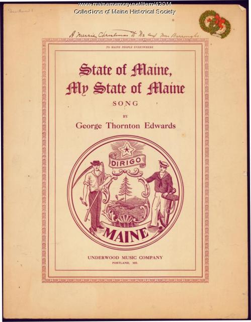 'State of Maine, My State of Maine,' 1913