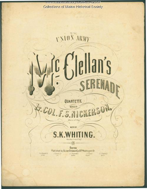 'McClellan's Serenade,' ca. 1861
