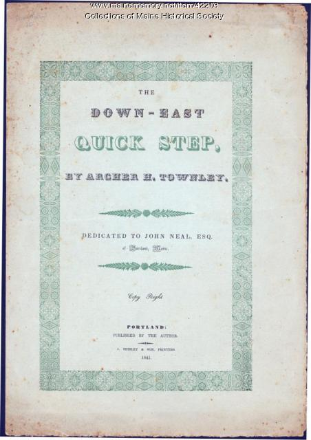 'Down-East Quick Step,' 1841