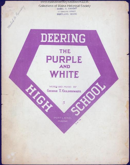 'The Purple and White,' Deering High School, 1914