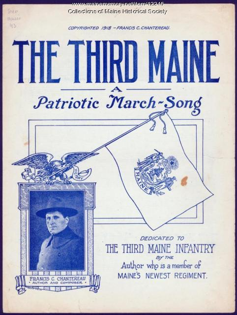 'The Third Maine, A Patriotic March-Song,' 1918