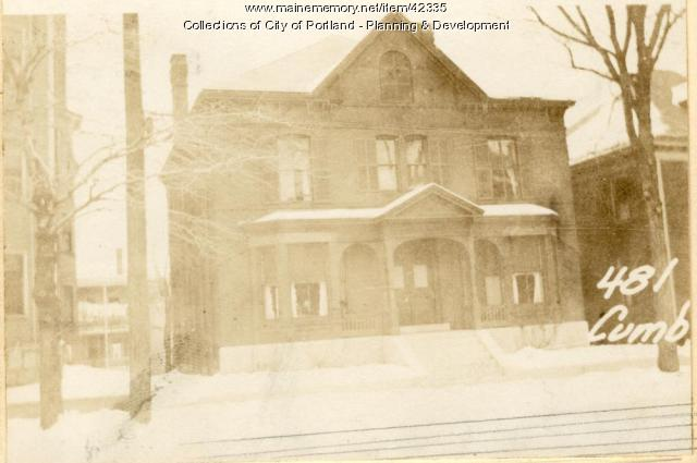 481 Cumberland Avenue in 1924