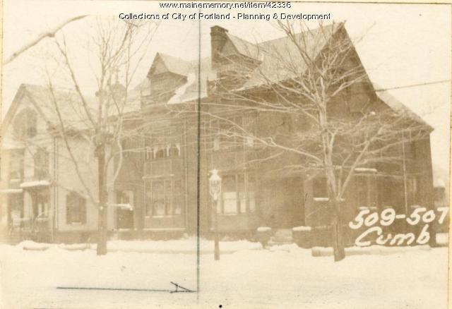 509 Cumberland Avenue, Portland, 1924