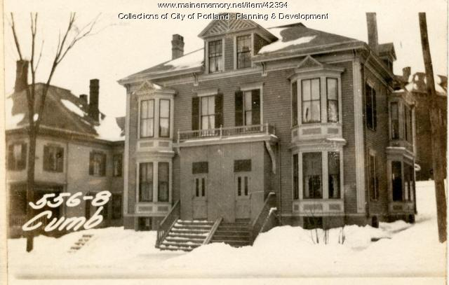556-558 Cumberland Avenue, Portland, 1924