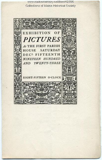 'Exhibition of Pictures' program, Portland, 1923