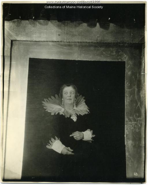 Kate A. Farnham as 'Portrait of Marie de' Medici,' Portland, 1923