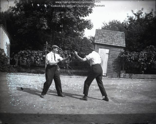 Mock Fight, Saco, or Newark, New Jersey, ca. 1910