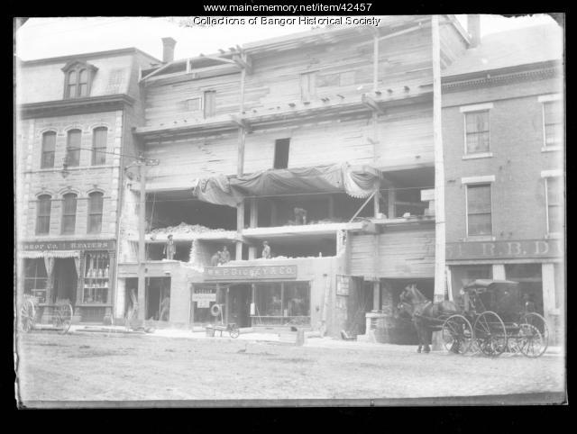 Wm. P. Dickey Store construction, Bangor, ca. 1895