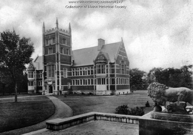 Hubbard Hall, Bowdoin College, Brunswick, ca. 1920