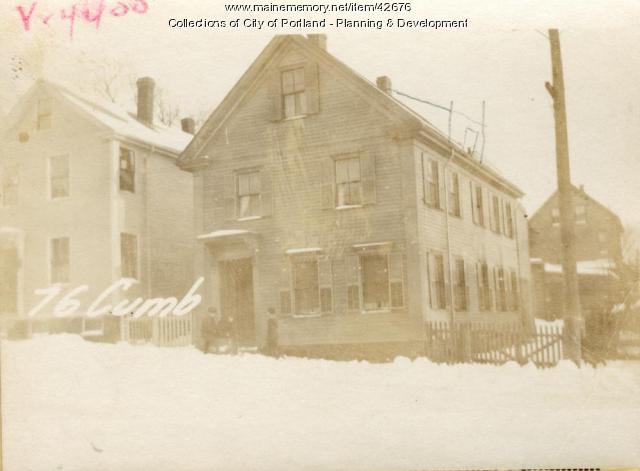76-78 Cumberland Avenue, Portland, 1924