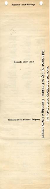 Assessor's Record, 276-304 Cumberland Avenue, Portland, 1924