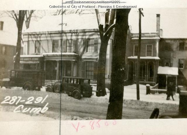 289 Cumberland Avenue, Portland, 1924