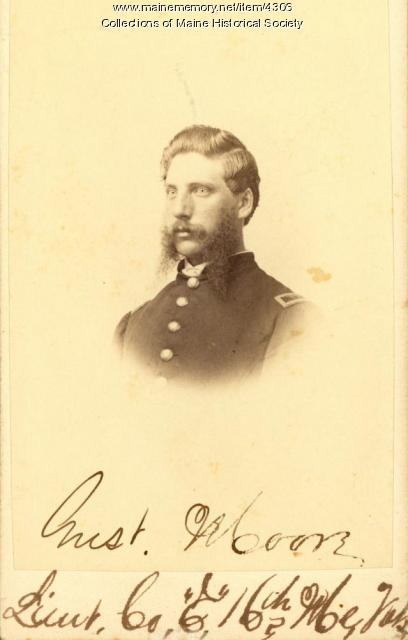 Gustavus Moore, 16th Maine Infantry, ca. 1864