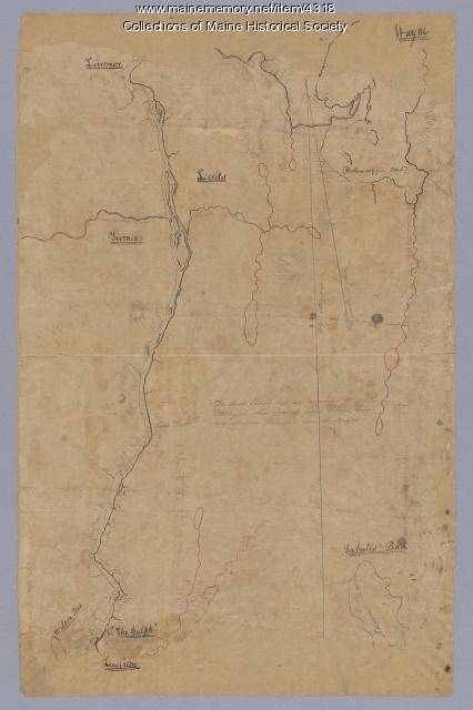 Androscoggin River above Lewiston, ca. 1750