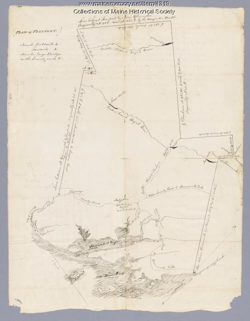 Map of Freeport, ca. 1740