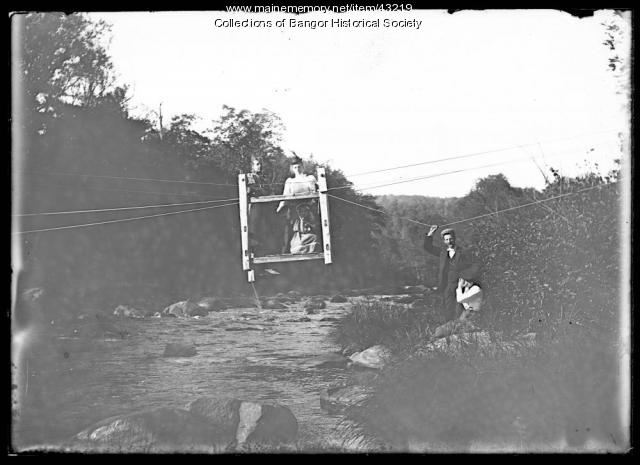 Stream crossing, Bangor area, ca. 1895