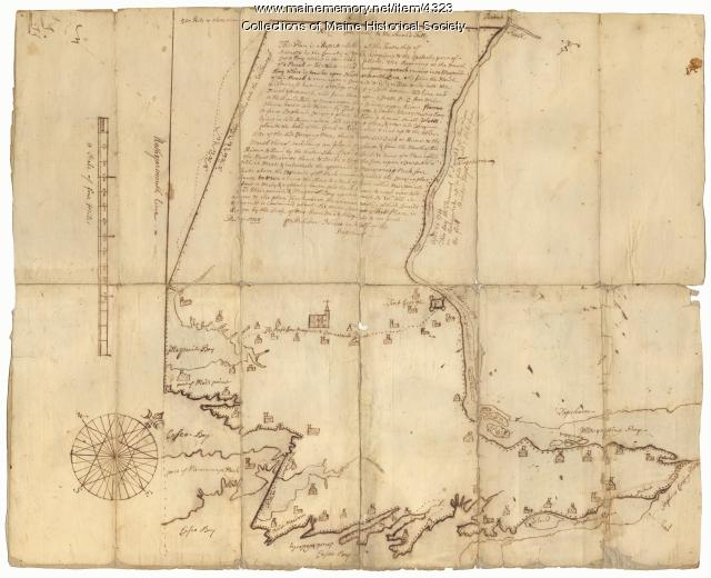 Scituate [now Brunswick] map, 1738