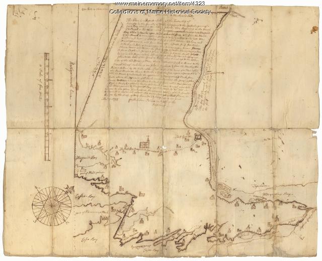 Scituate [now Brunswick] map, 1738