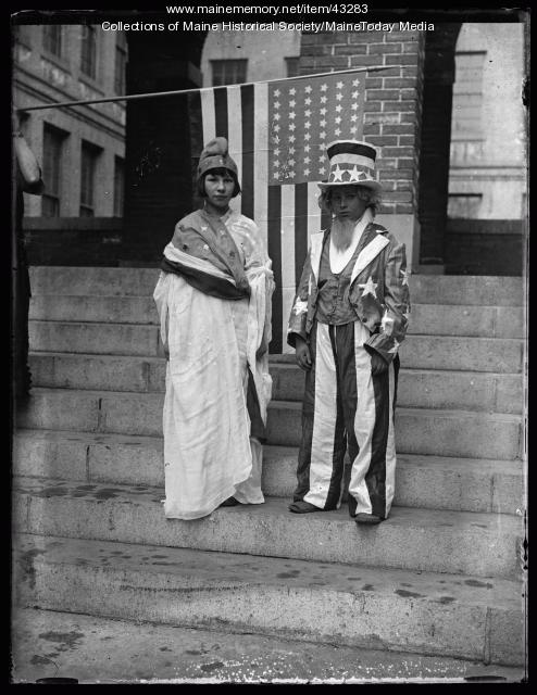 Uncle Sam and Goddess Liberty, Portland, 1924
