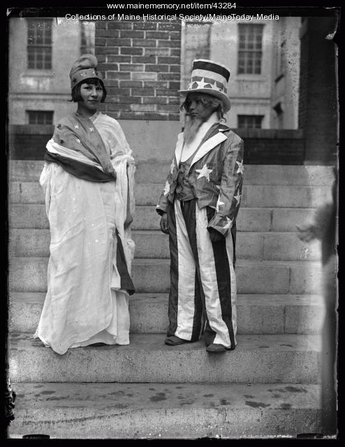 Students Dressed for Americanization Pageant, Chestnut Street School, Portland, 1924
