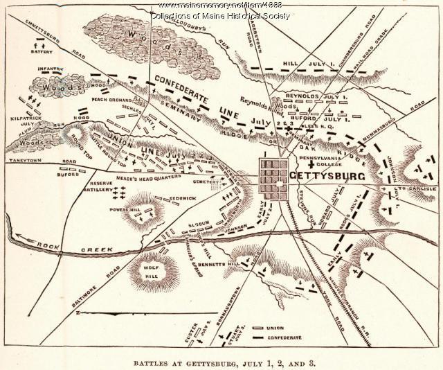 Battle at Gettysburg, 1863
