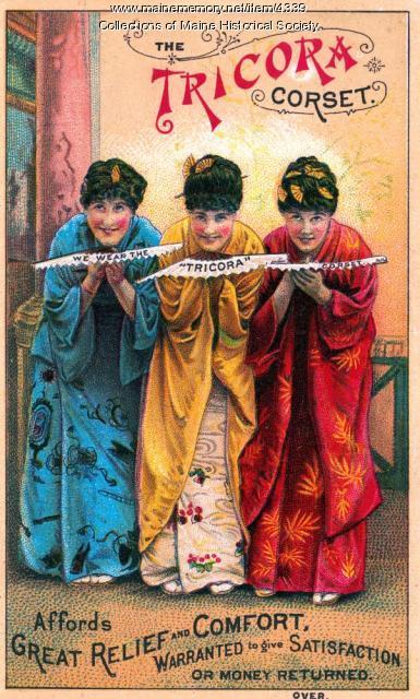 The Tricora corset, Bangor, ca. 1880