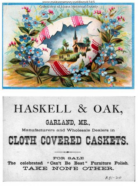 Haskell & Oak advertising, Garland