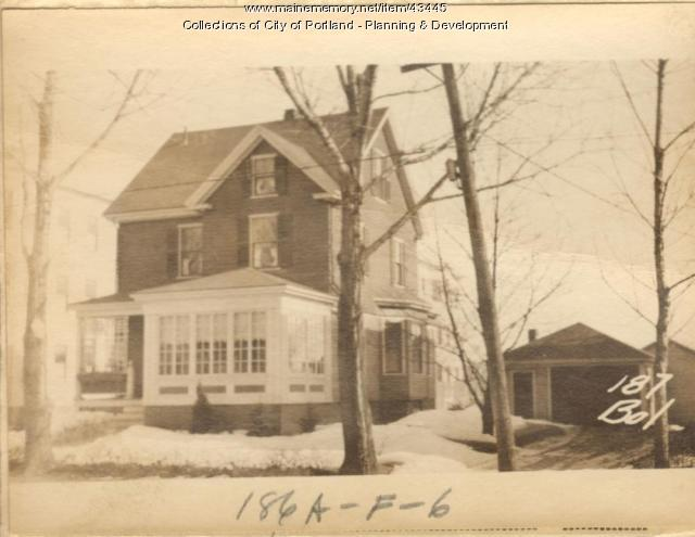 187 Bolton Street, Portland, 1924