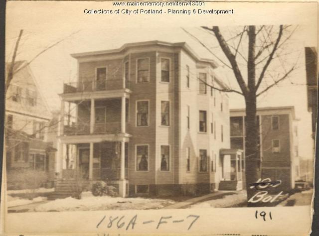 191 Bolton Street, Portland, 1924