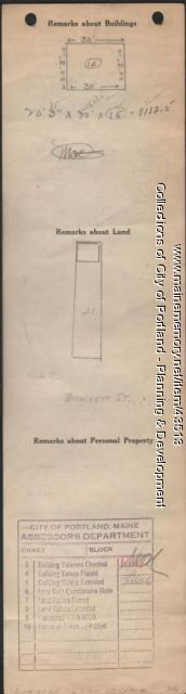 Assessor's Record, 238 Brackett Street, Portland, 1924