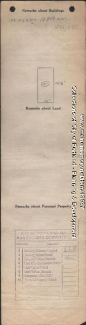Assessor's Record, 705 Brighton Avenue, Portland, 1924