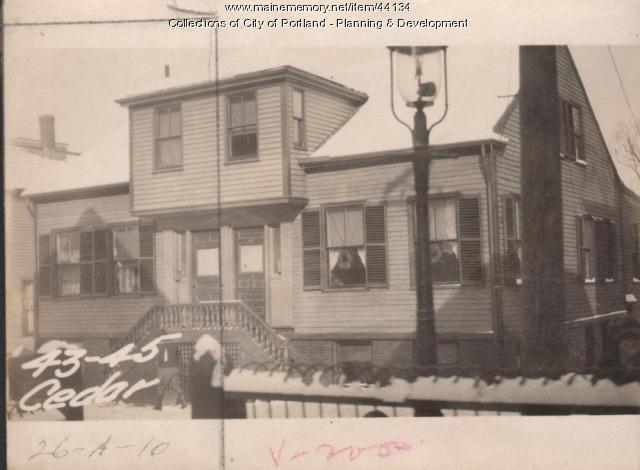 45 Cedar Street, Portland, 1924