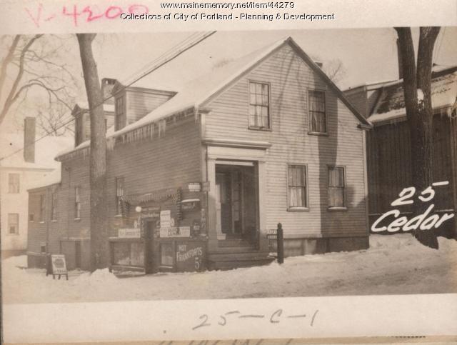 25 Cedar Street, Portland, 1924