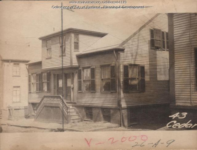 43 Cedar Street, Portland, 1924