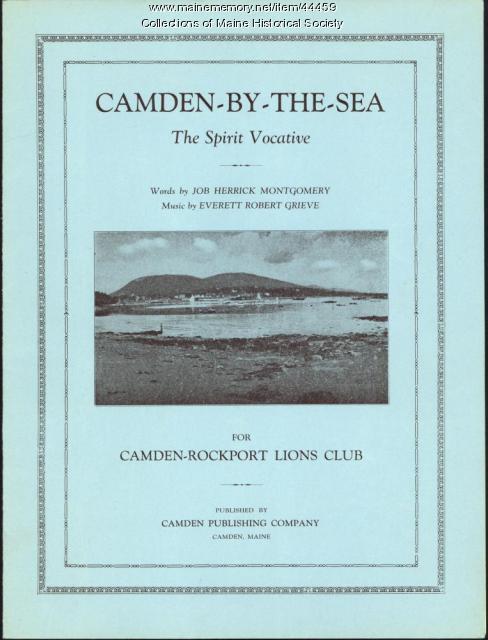 'Camden-By-The-Sea: The Spirit Vocative,' Camden, 1930