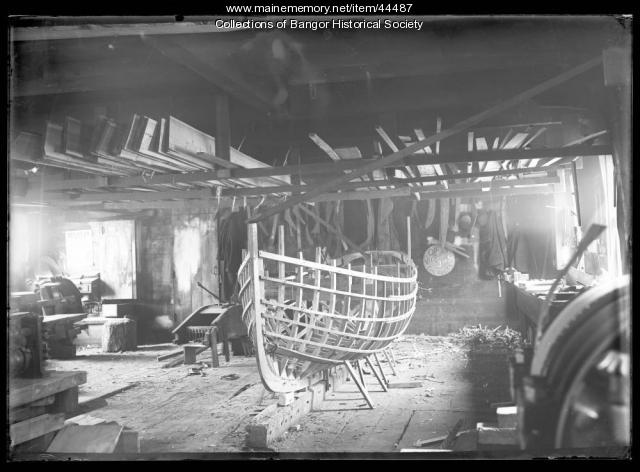 Boat under construction, Bangor, ca. 1895