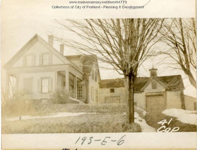 47 Capisic Street, Portland, 1924