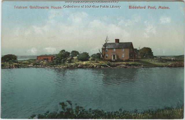 Tristram Goldthwaite House Biddeford Pool 1910 Maine Memory Network