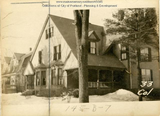 33 College Street, Portland, 1924