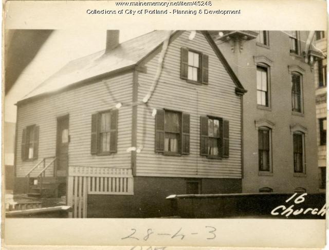 16 Church Street, Portland, 1924